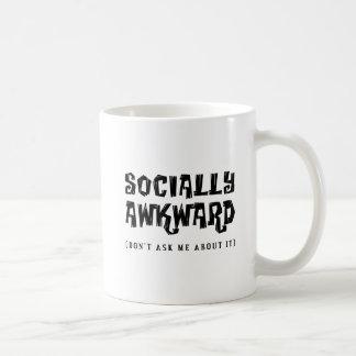 Taza divertida social torpe