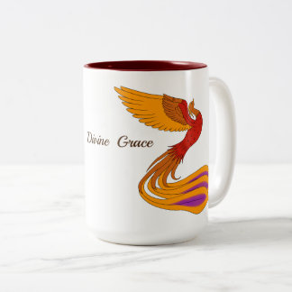 Taza divina del pájaro de Phoenix de la tolerancia
