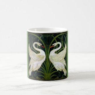Taza doble de la obra clásica del cisne de Nouveau