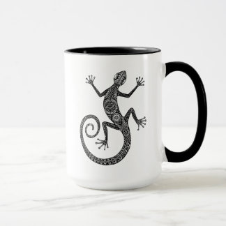 Taza Doodle del lagarto o del Salamander