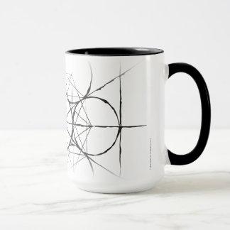 Taza Drinkware del cubo de Metatron sagrado artístico