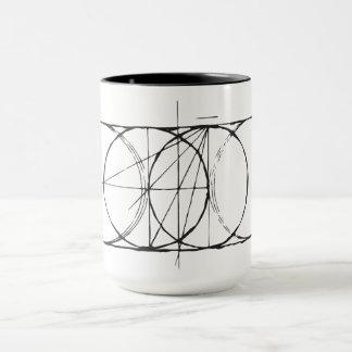 Taza Drinkware sagrado artístico de Piscis de la vejiga