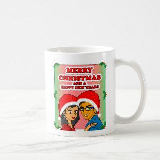 Taza dulce del navidad de la miel