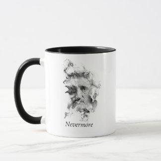 Taza Edgar Allan Poe en humo con el cuervo - nunca más