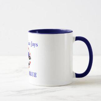 Taza el arrendajo azul, arrendajos azules de Merrill,