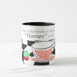 Taza El café con los amigos, es la mejor terapia