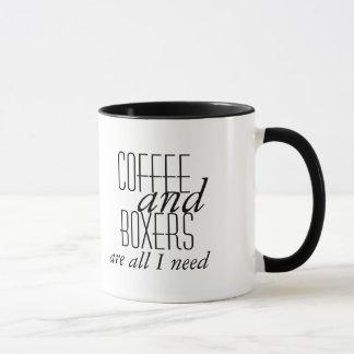 Taza El café y los boxeadores son todo lo que necesito