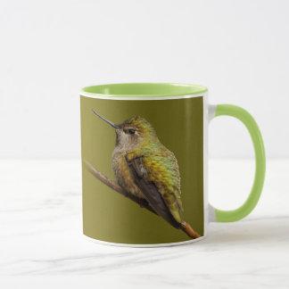 Taza El colibrí de Ana en el escarlata Trumpetvine