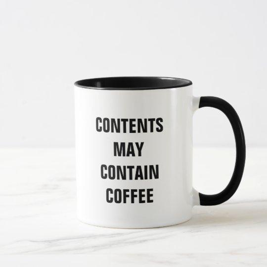 Taza El contenido puede contener el café (la taza)