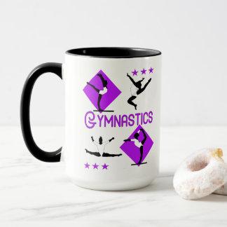 Taza El gimnasta figura la gimnasia linda de los chicas