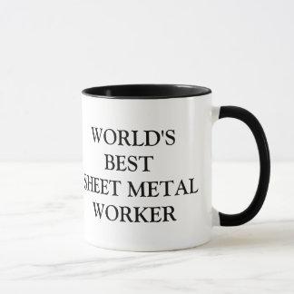 Taza El mejor trabajador de la chapa del mundo