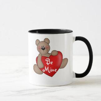 Taza El oso con el corazón sea el mío