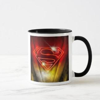 Taza El superhombre Stylized el logotipo rojo brillante