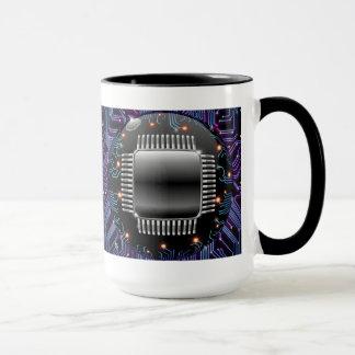 Taza electrónica del circuito de la placa madre