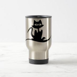 taza elegante del viaje del gato