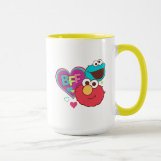 Taza Elmo y monstruo de la galleta - BFF