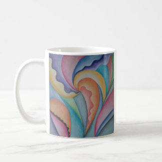Taza en colores pastel abstracta de la bebida del