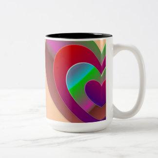 Taza en diseño abstracto