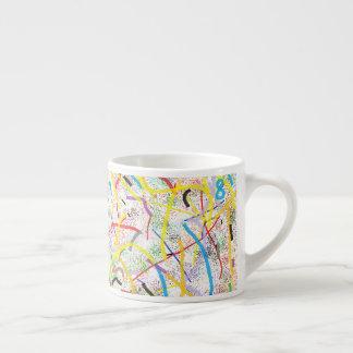 Taza enrrollada del café express de la matemáticas