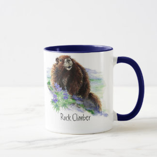 Taza Escalador de roca - marmota - animal