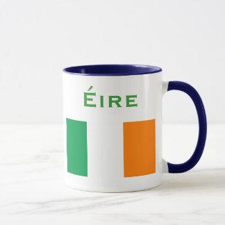 Taza Escudo de armas y bandera Mug* de Irlanda