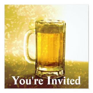 Taza espumosa de cerveza invitación 13,3 cm x 13,3cm