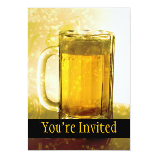 Taza espumosa de cerveza invitación 12,7 x 17,8 cm