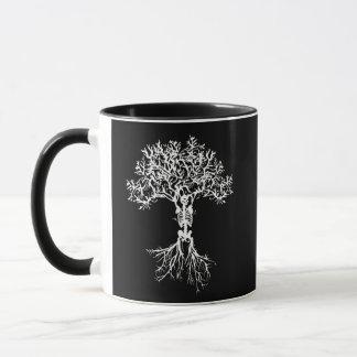 Taza esquelética del árbol