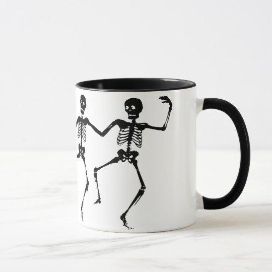 Taza Esqueletos del baile (Halloween)