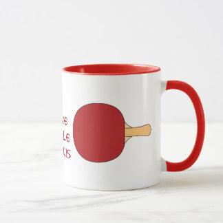 Taza Estafa de tenis de mesa roja