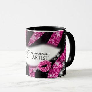 Taza Estampado de zebra rosado atractivo de los labios