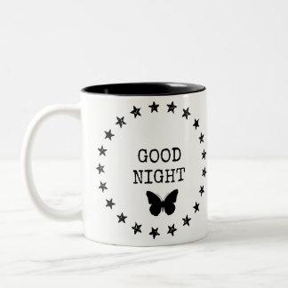 Taza estrellada de las buenas noches