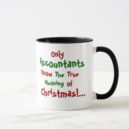 Taza famosa de la cita del navidad del contable