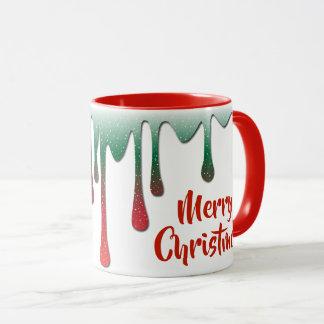 Taza Felices Navidad de goteo