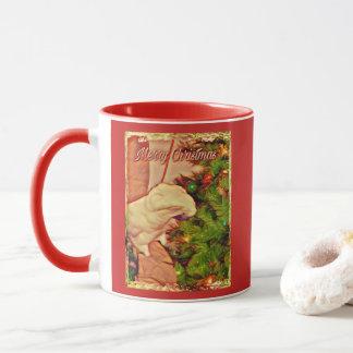Taza Felices Navidad Onni el Cockatoo del bebé