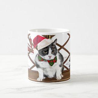 taza:  Felix, el gato, en el navidad Taza De Café