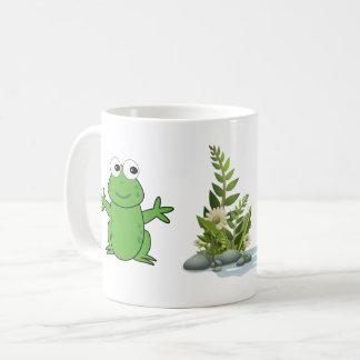 taza feliz de la rana