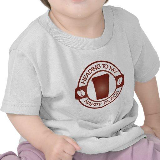taza feliz del starbuck del té del café del lugar camisetas