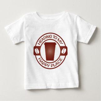 taza feliz del starbuck del té del café del lugar camiseta para bebé