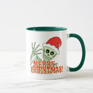 Taza Feliz esqueleto de Navidad