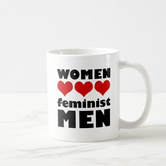 Taza feminista de los hombres del amor de las