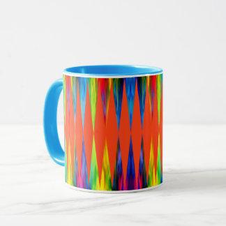Taza [Fiesta del arco iris] Harlequin brillante