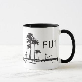 Taza Fiji - palmeras gráficas