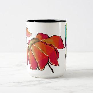 Taza floral brillante