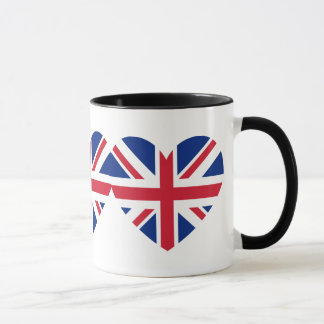 Taza Forma del corazón de Union Jack
