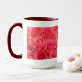 Taza Foto rosada de los rosas