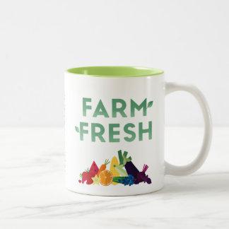 Taza fresca de la granja orgánica