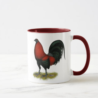 Taza Gallo americano del rojo del negro del BB del