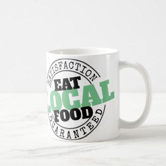 Taza garantizada satisfacción local de la comida