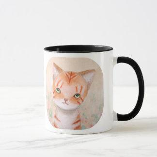 Taza Gato de Tabby anaranjado en pastel elegante lindo